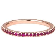 0.30 Carat Pink Natural Sapphire Ring in 14 Karat Rose Gold Band