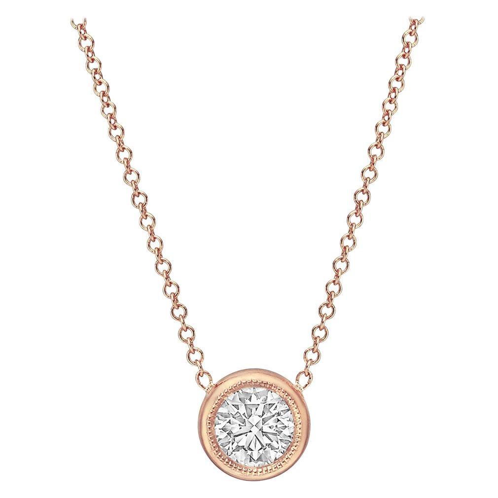 0.30 Carat Round Brilliant Diamond Solitaire Pendant