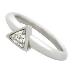 0.31 Carat Diamond and Platinum Solitaire Ring, Contemporary
