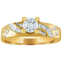0.31 Carat Diamond Gold Engagement Ring