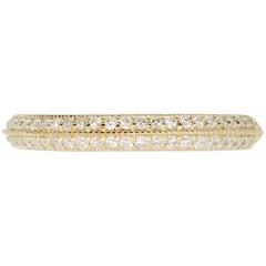 0.31 Carat White Diamond Double Band