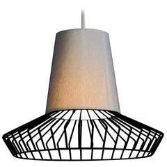 0311/S55 Black Cage Pendant Light