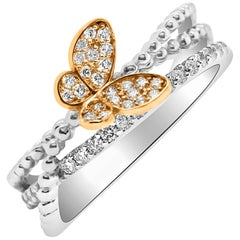 0.32 Carat Butterfly Diamond Ring