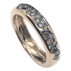 0.32 Carat Brown Pavé Diamonds Comfort Band Ring 18 Carat Rose Gold