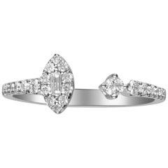 0.33 Carat Diamond 14 Karat White Gold Ring