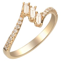 0.34 Carat Diamond 14 Karat Yellow Gold Ring