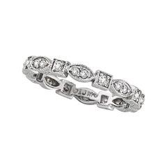 0.35 Carat Natural Diamond Stackable Stack Band Ring G SI 14 Karat White Gold