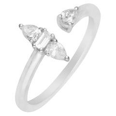 0.35 Carat Total Diamond Weight Diamond 18 Karat White Gold Ring