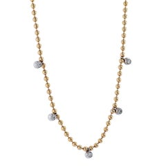 0.36 Carat Diamond Bezel-Set Drop Necklace