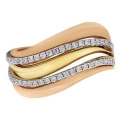0.37 Carat Wave Diamond Ring