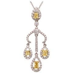 0.39 Carat Fancy Yellow Diamond Pendant