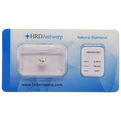 0.39 Carat HRD Certificate White Trilliant Cut Diamond