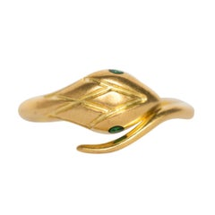 .04 Carat Emerald Yellow Gold Ring