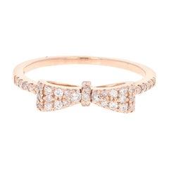 0.40 Carat Diamond Bow Band 14 Karat Rose Gold