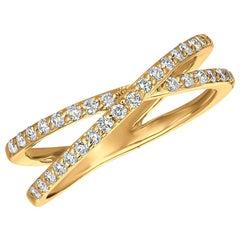 0.40 Carat Natural Diamond Ring G SI 14 Karat Yellow Gold
