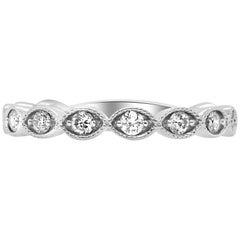 0.40 Carat Scallop Shaped Diamond Ring