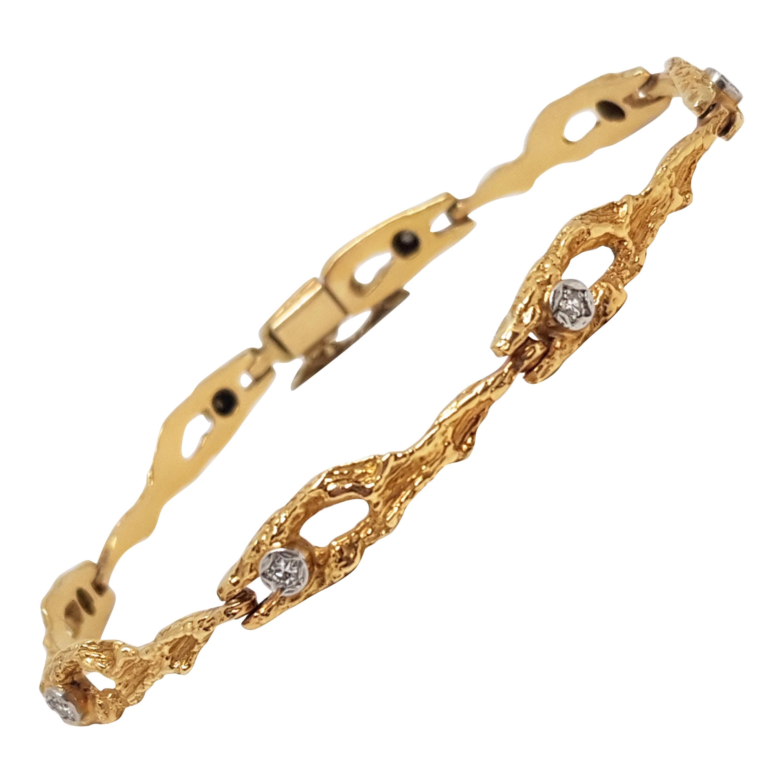 0.40 Carat Yellow Gold Diamond Tennis Bracelet
