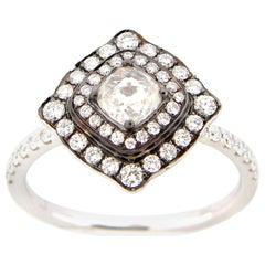 0.42 Carat Rose Cut Diamond Ring