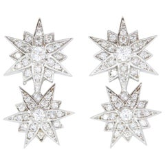 0.42 Carat Star Diamond Earrings