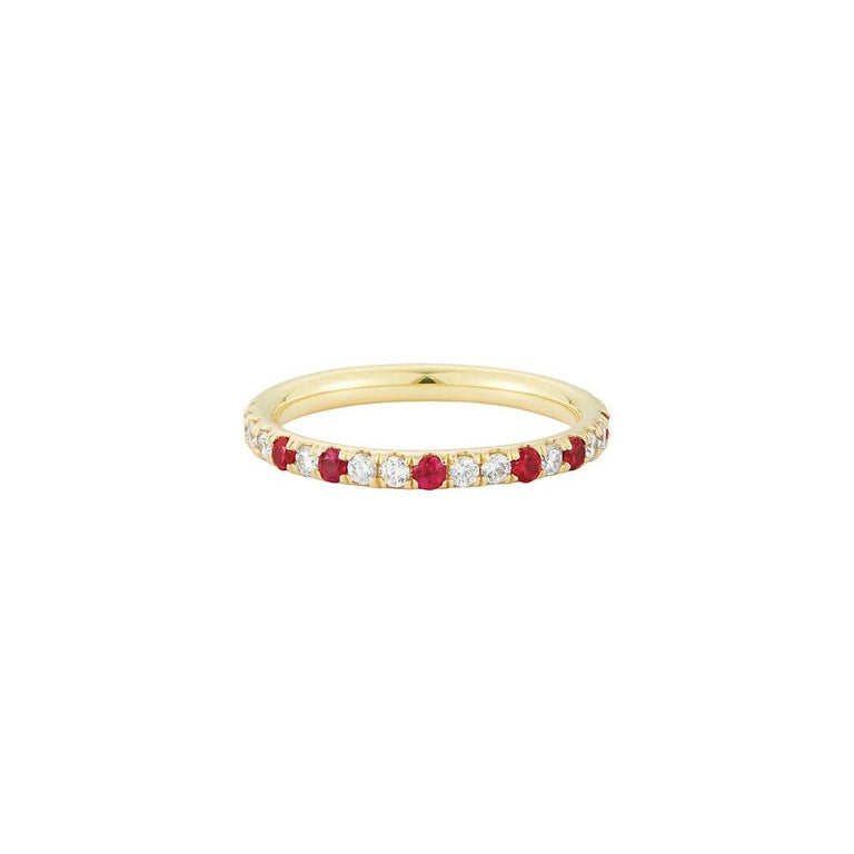 Ruby-speckled eternity band