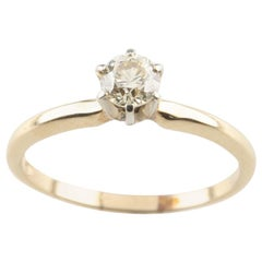0.43 Carat Fancy Light Brown Diamond Solitaire Engagement Ring in Yellow Gold