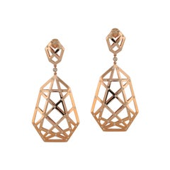 0.43 Carat White Diamond 18 Karat Rose Gold Irene Earring