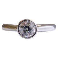 0.45 Carat Antique Old Cut Diamond Engagement Ring, Solitaire Diamond