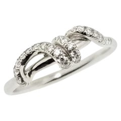 0.45 Carat Diamond and Platinum Love Knot #2 Ring by Dan Peligrad