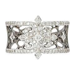 0.46 Carat Diamond Ring in 18 Karat Black Gold