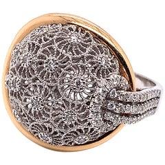 0.46 Carat Diamond Vintage Inspired Gold Ring