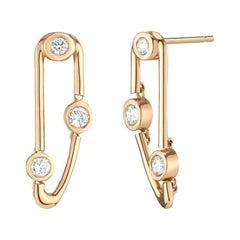 0.47 Carat Diamond Dangling Stud Earrings