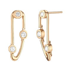 0.47 Carat Diamond Dangling Stud Earrings