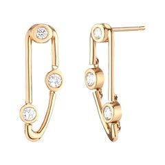 0.47 Carat Diamond Statement Dangling Drop Earrings