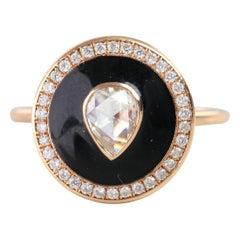 0.47 Carat Pear Shaped Rosecut Diamond Ring