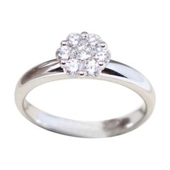 0.47 Ct Diamonds 18kt White Gold Engagement Ring or Solitaire Ring