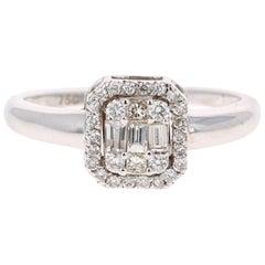 0.48 Carat Diamond 18 Karat White Gold Ring