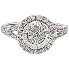 0.48 Carat Round White Diamond Ring