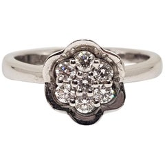0.49 Carat 18 Karat White Gold Diamond Ring