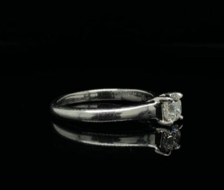 Square Cut 0.49 Carat Tiffany & Co Lucida Diamond Platinum Engagement Ring For Sale