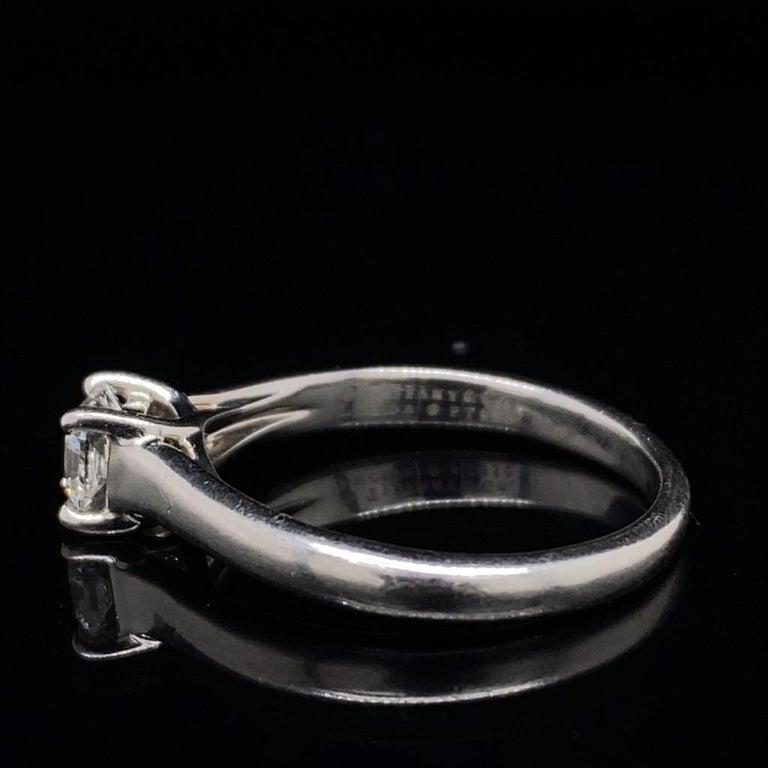 Women's 0.49 Carat Tiffany & Co Lucida Diamond Platinum Engagement Ring For Sale