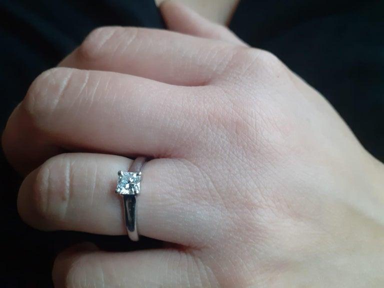 0.49 Carat Tiffany & Co Lucida Diamond Platinum Engagement Ring For Sale 1