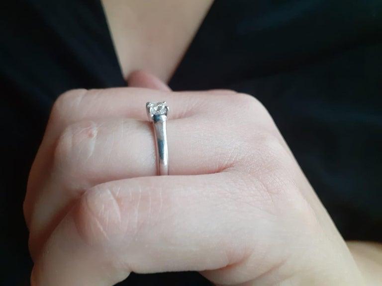 0.49 Carat Tiffany & Co Lucida Diamond Platinum Engagement Ring For Sale 2