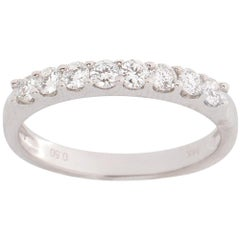 0.5 Carat Diamond Wedding Band, 14 Karat Gold