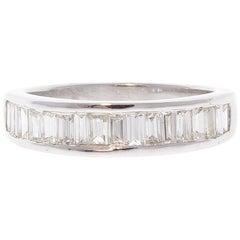 0.50 Carat Baguette Diamond Ring in 14 Karat White Gold