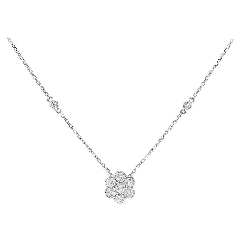 0.50 Carat Diamond 14 Karat White Gold Necklace