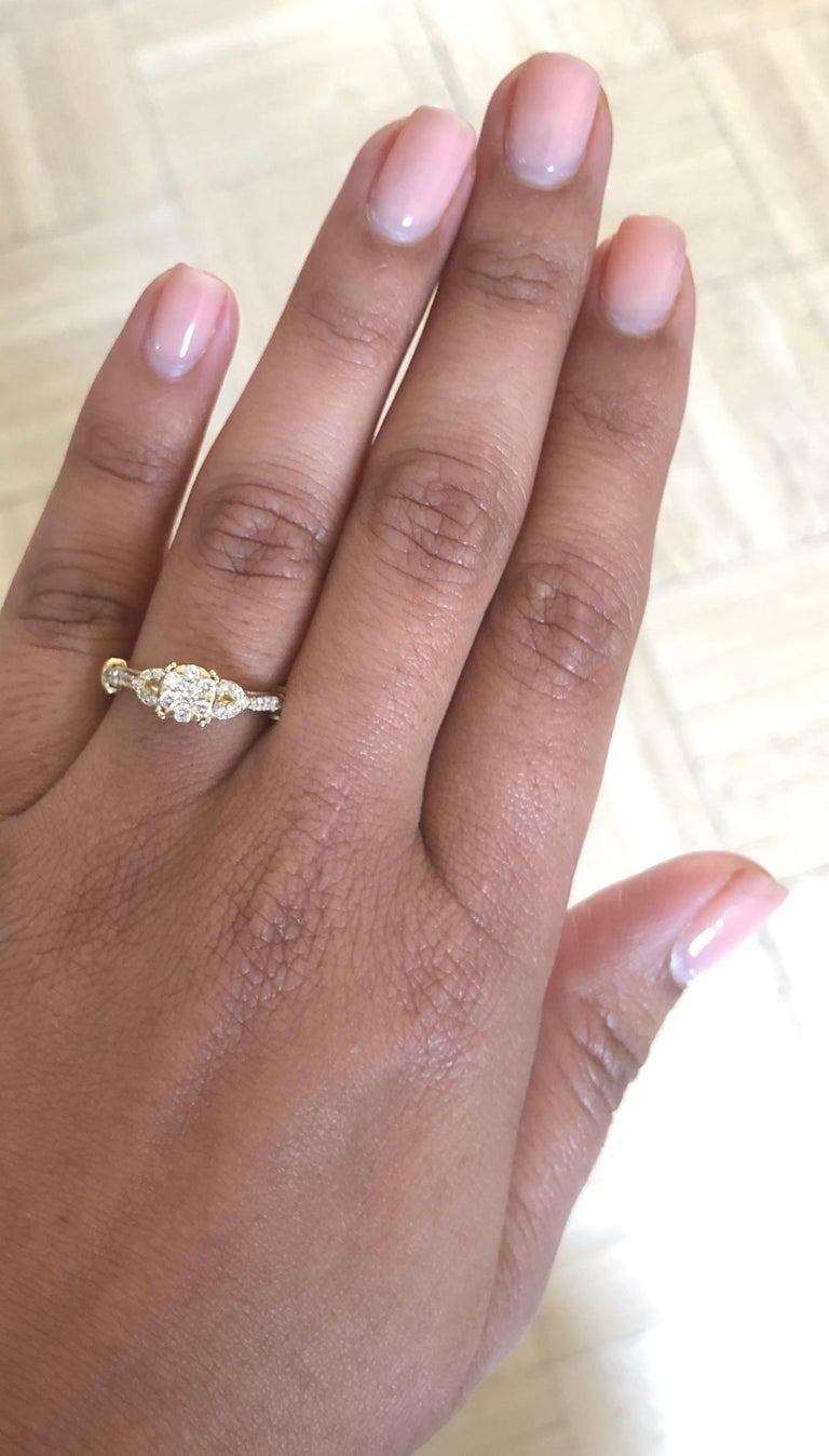 0.50 Carat Diamond 14 Karat Yellow Gold Ring In New Condition For Sale In Los Angeles, CA