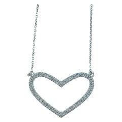 0.50 Carat Diamond 18 Karat White Gold Necklace