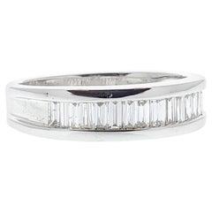 0.50 Carat Diamond Baguette Ring in 14 Karat White Gold