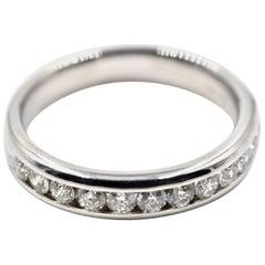 0.50 Carat Diamond Band 14 Karat White Gold
