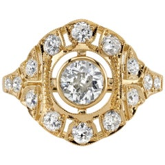 0.50 Carat EGL Certified Old European Cut Diamond in an 18 Karat Gold Ring